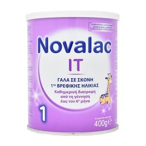 9d675517463 Novalac IT 1 Γάλα 1ης Βρεφικής Ηλικίας για την αντιμετώπιση της  Δυσκοιλιότητας, 400gr